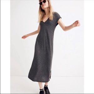 Madewell Gray Horizon Slit Midi Dress Small